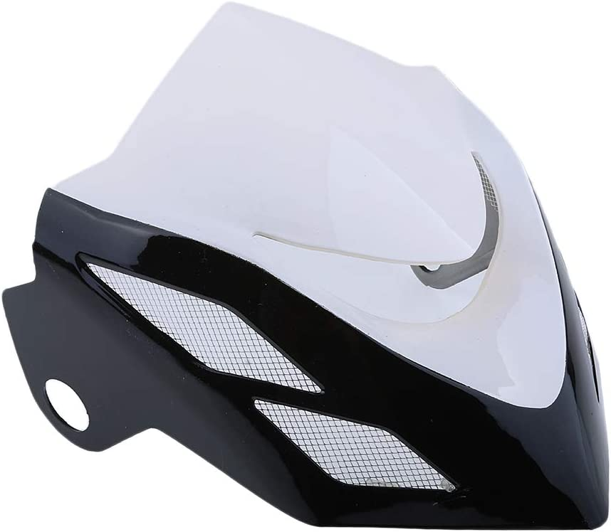 Motorcycle Headlight Cover Wind Shield Screen For Honda Grom Msx125 2014-2015 (White)