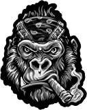 Lethal Threat Unisex-Adult Large Embroidered Patch (Bandana Gorilla)(Black, Fits within a 12'' x 13'' package), 1 Pack