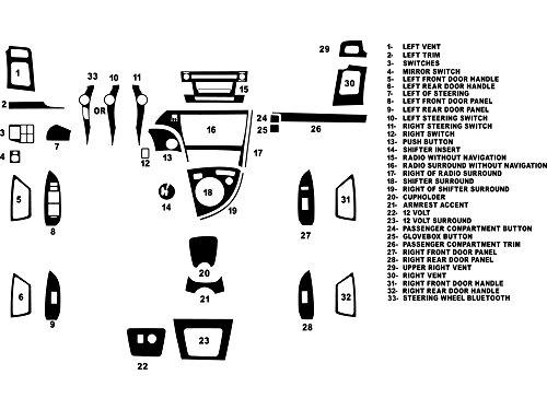 Dash Wood Toyota Kits (Rdash Dash Kit Decal Trim for Toyota Prius 2010-2011 - Wood Grain (Mahogany))