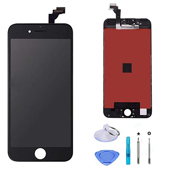 buy online 2691b beb93 LCD Touch Screen Digitizer Display Replacement Assembly with Repair Tool  for iPhone 6 Plus-Black