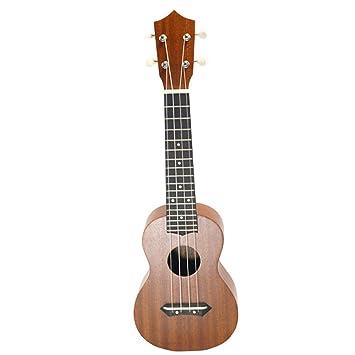 North King Guitarra acústica 27 Pulgadas Boya Sapelly Madera Ukelele Adultos Instrumentos de música