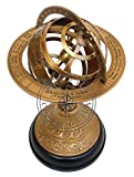 """Hanzla Collection 10"""" Engraved Brass Tabletop"""