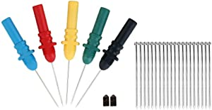 Probe Kit, KKmoon HT307 Acupuncture Back Probe Pins Set Automotive Diagnostic Test Accessories Repair Tools Back Pinning Probes/Needle/Piercing Probes Set(Set of 5,Assorted Colors)