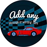 Racing Car Sticker Labels (12 Stickers, 6.5cm Each) Personalised Seals Ideal for Party Bags, Sweet...