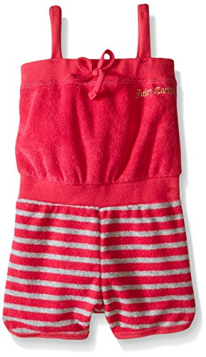 Juicy Couture Little Girls' Romper with Loop Terry, Pink, 5