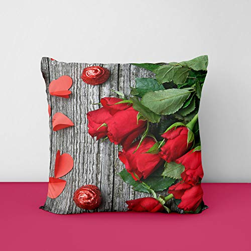 513APXCRB3L Rose Wood Square Design Printed Cushion Cover