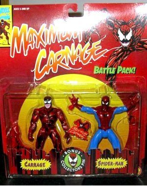 """SPIDER MAN """" MAXIMUM CARNAGE """" 2 PACK, SPIDER MAN AND CARNAGE MOC"""