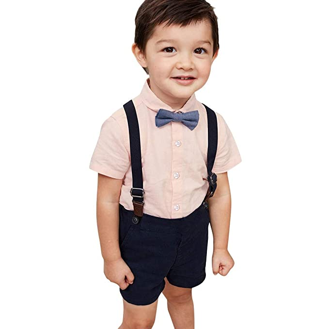 Release-Info zu am modischsten größte Auswahl von 2019 wuayi Baby Jungs Gentleman Fliege Pure Farbe Kurzarm Hemd T ...