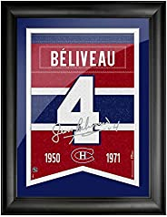 Montreal Canadiens 12x16 Beliveau Framed Player Number with Replica Autograph