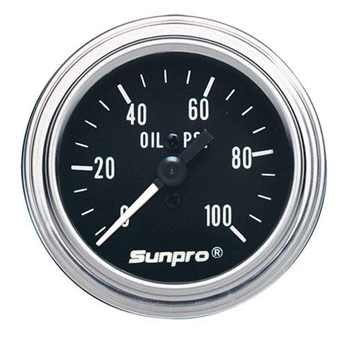 Sunpro CP7977 Mechanical Oil Temperature Gauge - Black Dial