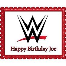 WWE Edible Cake Topper & Cupcake Toppers - 7.5 x 10' (1/4 sheet) rectangular inches