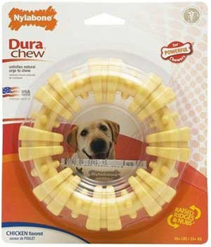 Nylabone Dura Chew Plus Textured Ring Dog Chew Toy, Large, My Pet Supplies