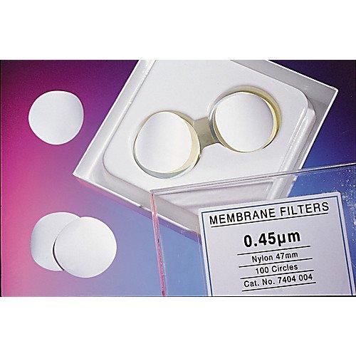 Nylon Membrane Filter (Whatman 7402-002 White Nylon Membrane Filter, 25mm Diameter, 0.2 Micron (Pack of 100))