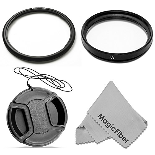 58MM Lens Conversion Adapter Ring for CANON POWERSHOT SX50 HS Cameras + Ultraviolet Protection Filter + Center