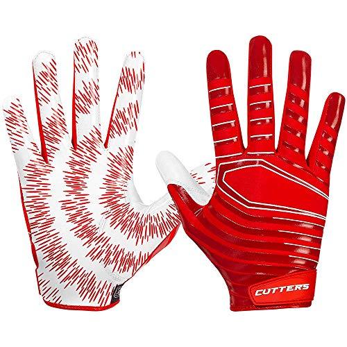 Cutters Gloves S252 Rev 3.0 Receiver Gloves, Red, Medium