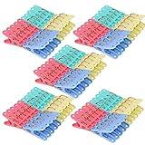 eDealMax Menage LINGE Chaussettes Vêtements de séchage Pince Hanging Peg Clip 160pcs Pinces à linge