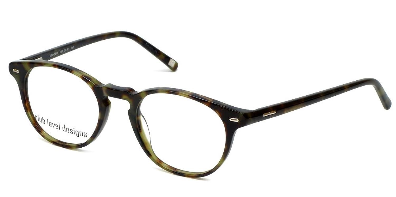 Silver Dollar Designer Eyeglasses CLD-9143 in Green Tortoise 48mm DEMO LENS