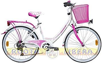 Bicicleta Lombardo para niña, de paseo, rodado 24, Rimini 24 6 V ...