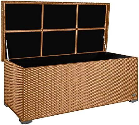 Premium Sienna 650l Polyrattan Garten Kissenbox Wetterfest Regnet Nicht Rein 155 X 73 X 60 Cm Auflagenbox Mit Verstärktem Deckel Und