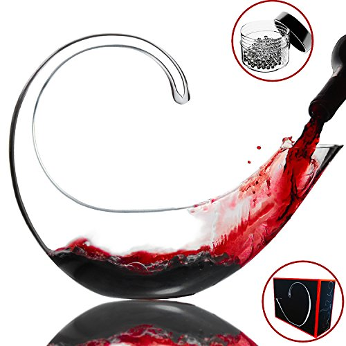 Amazing Home Lead Free Crystal Glass Scorpio Wine Decanter,Red Wine Carafe,Prepackaged Luxury Gift Box and Free Cleaning Beads Set by Amazing Home