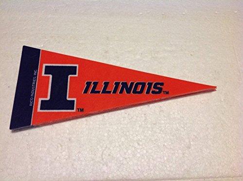 Illinois Fighting Illini Mini Pennant, (2-Pack)