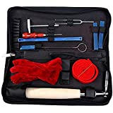 Professional Piano Tuning Kit (10 Items). Brofans Piano Tuner Tools Including Tuning Hammer Mute Wrench Hammer Lever, (Felt) Mutes, Fork Kit Tools and Case