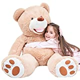 "IKASA 39"" Giant Teddy Bear with Big Footprints Plush Toy Stuffed Animals Light"