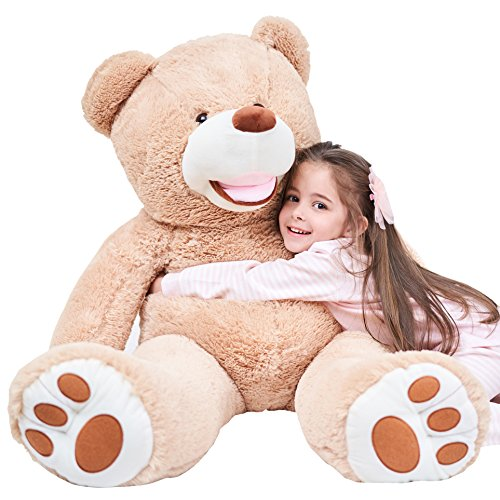 IKASA Giant Teddy Bear Plush Toy Stuffed Animals Brown 39 inches