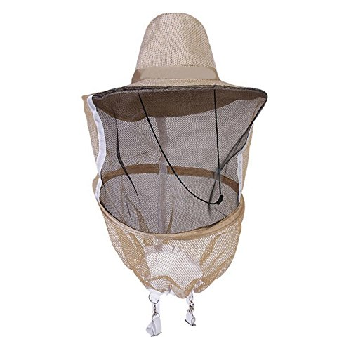 Kocome Beekeeper Beekeeping Veil with Round Cowboy Hat - Anti Mosquito Bee Insect - Head Face Protector by Kocome