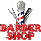 Barber Shop 12'' Concession Decal Sign cart Trailer Stand Sticker Equipment