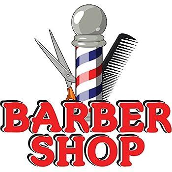 amazon com barber shop 12 concession decal sign cart trailer