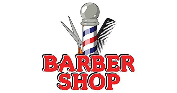 Amazon.com: Barber Shop Concesión calcomanía Equipo Sign ...