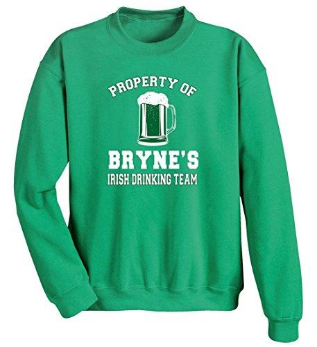Unisex-Adult Personalized Irish Custom Name Drinking Team Sweatshirt - Sm