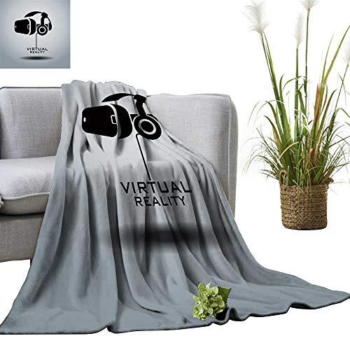 YOYI Comfortable blanketvirtual Reality Headset icon icon Design Black White Cozy Hypoallergenic 60