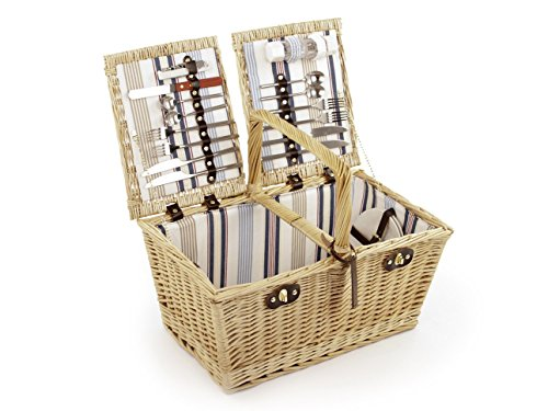 Greenfield Collection Park Lane Willow Picnic Hamper for Four People by Greenfield Collection