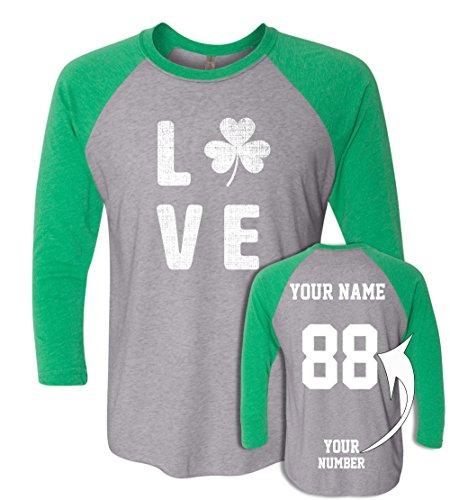 Custom Jerseys ST Patrick's Day T Shirts ☘ Saint Pattys Baseball Raglans Irish Outfits - Tops Custom Tri
