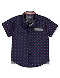 """Faze 1 Baby Boys' """"Lobster Party"""" S/S Button-Down"""