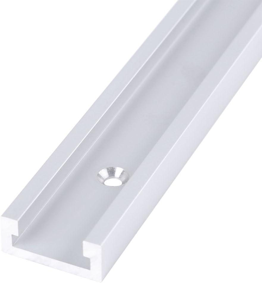 riel en T de aleaci/ón de Aluminio de 400 mm Riel con Ranura en T con Tornillos autorroscantes para carpinter/ía Cosiki Riel con Ranura en T Duradero