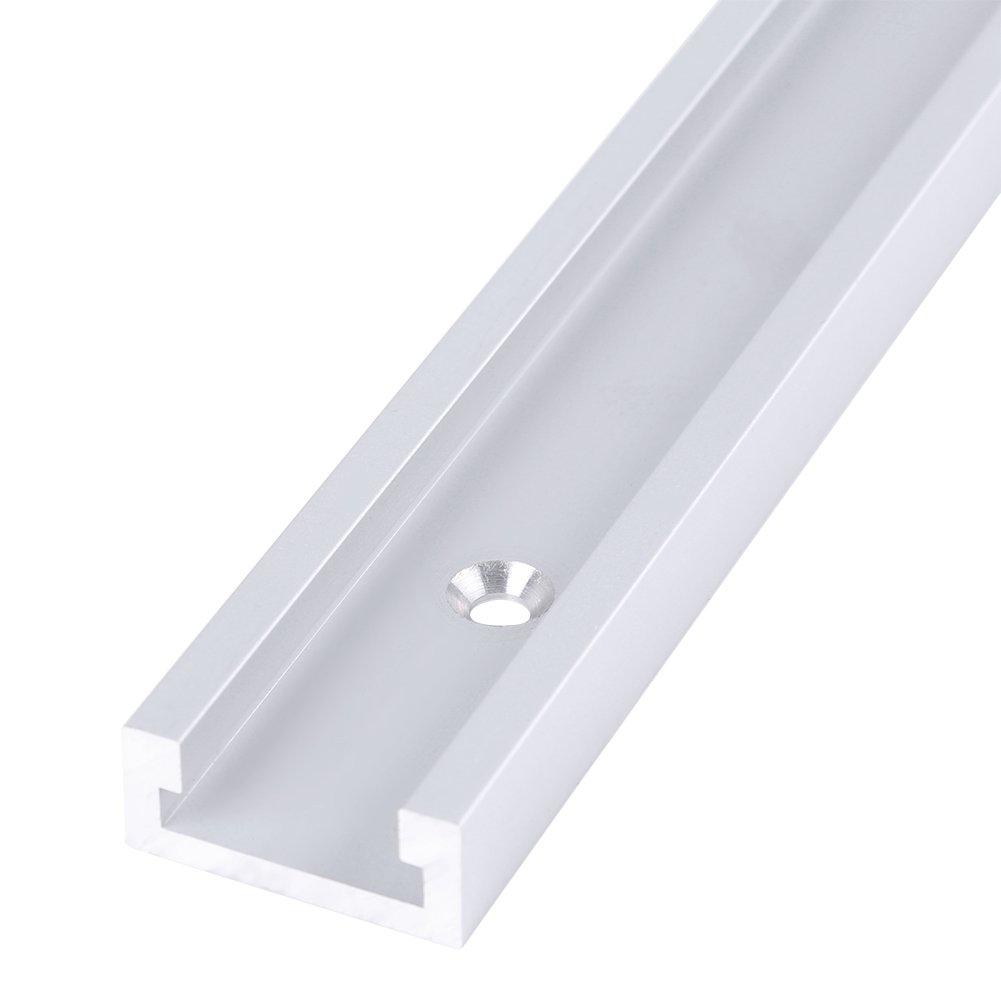 Zunate T-Slot Track,Aluminiumlegierung T-Track Linearf/ührung Way Rail Kit Set Gleitlager mit 4 St/ück selbstschneidenden Schrauben,kann mit vielen Holzbearbeitungswerkzeugen verwendet Werden,400mm
