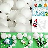 12 Pcs 70mm Modelling Polystyrene Styrofoam Foam Ball Sphere Xmas Decoration Craft