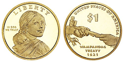 2011 S Sacagawea Native American Wampanoag Treaty Proof Dollar PF1