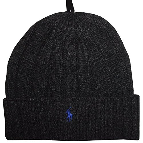 mbs Wool Beanie Hat Cap-Dark Gray/Blue ()