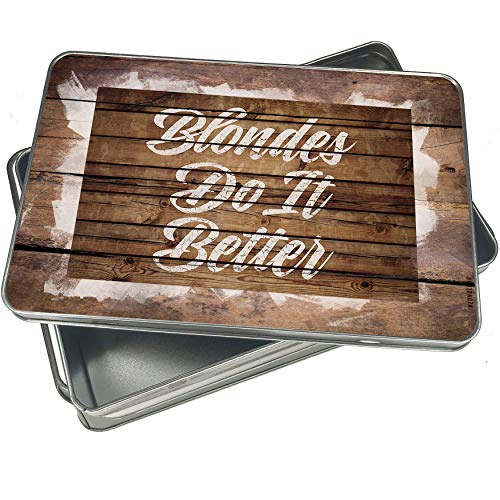 (NEONBLOND Cookie Box Painted Wood Blondes Do It Better Christmas Metal)