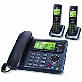 Bell BE6641-2 DECT 6.0 Corded/Cordless Phone with 2 Handsets & Bluetooth- Charcoal & Black