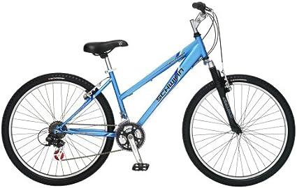 "Schwinn Mountain Bike Women 26/"" Black Disc Brake Shimano Suspension Bicycle New!"
