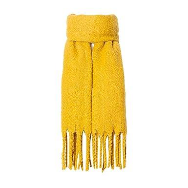 ae77f6d6d295 Cebbay Foulard Femme Gland de Mode Couleur Unie Scarves Hiver Chaud Cape  Écharpes  Amazon.fr  Vêtements et accessoires