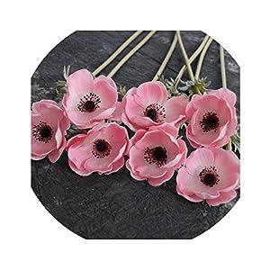 Our ideas-Artificial flower Anemones Real Touch Flowers Single Stem for Silk Wedding Bridal Bouquets, Centerpieces, Decorative Flowers, Cake Dec 69
