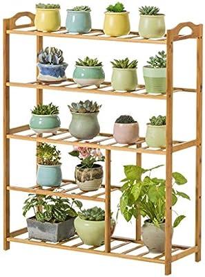 Dsrgwe Escalera para Flores, Soporte de Flor para Plantas pequeñas de Madera de 5 Niveles con Estante de exhibición de pie Enrejado para el hogar y el jardín Balcón: Amazon.es: Hogar
