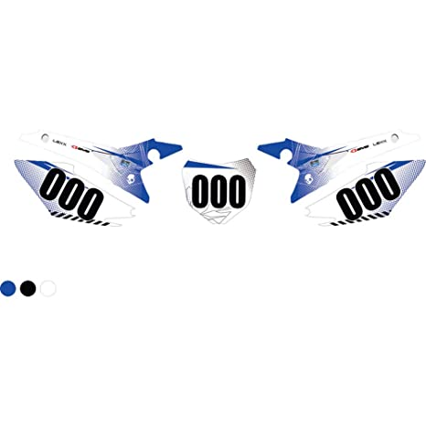 2a81ac682 Amazon.com: Attack Graphics Custom Havoc Full Coverage Number Plate Backgrounds  White/WORCS Blue - Fits: Honda CRF125F (Big Wheel) 2014-2018: Automotive
