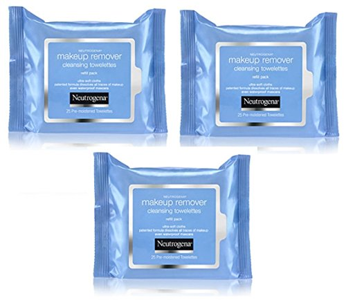 Fragrance Free Makeup (Neutrogena Make-Up Remover Towelettes 25 Count (Fragrance-Free) (3)